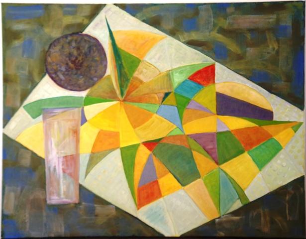Bouquet séché - Acrylique sur toile 90 x 70 - 12 16