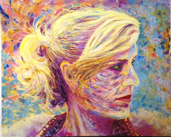 Djo - Acrylique sur toile 93 x 80 - 08 17