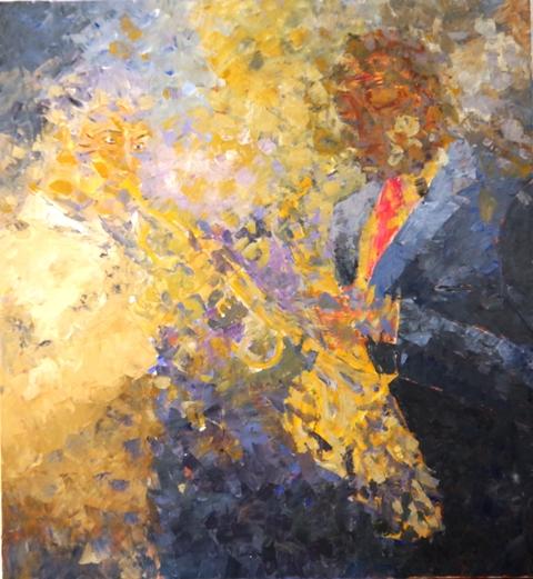 Impro - Acrylique sur toile 103 x 95 - 07 17