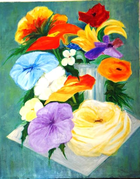 Le vase vide - Acrylique Huile sur toile 100 x 80