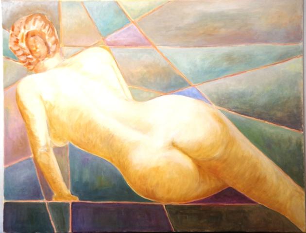 Nu - Acrylique sur toile 90 x 70 - 11 16