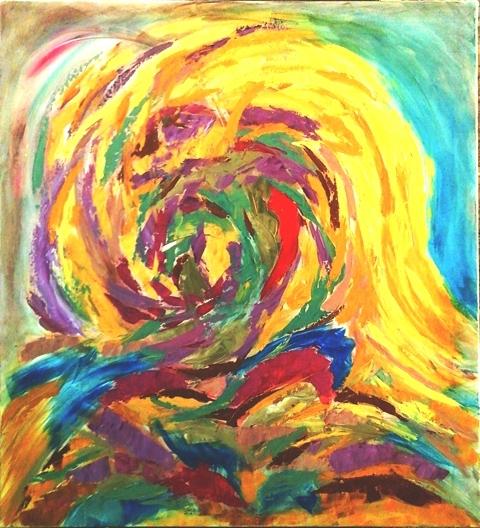 Passage Acrylique sur toile 93 x 85