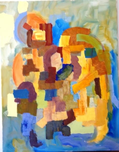 Rencontre - Acrylique sur toile 90 x 70 - 03 17