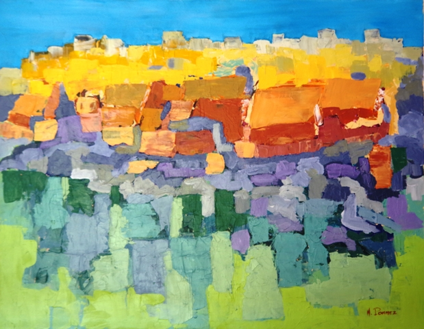 Village - Acrylique 90 x 70 - 02 17